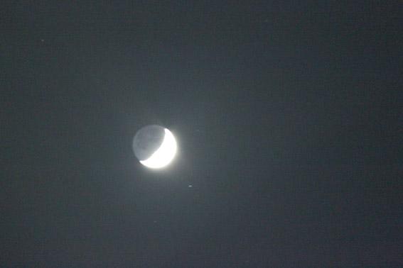 教習所から見るお月様
