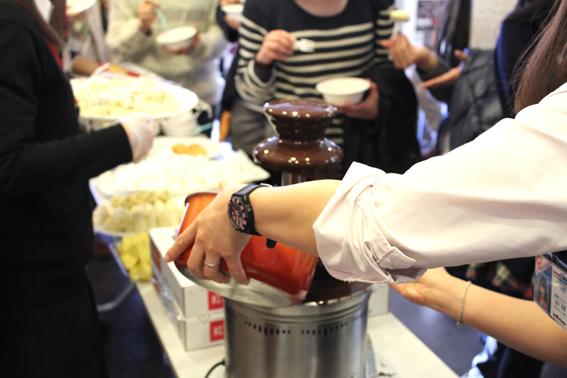 バレンタイン チョコレートファウンテン