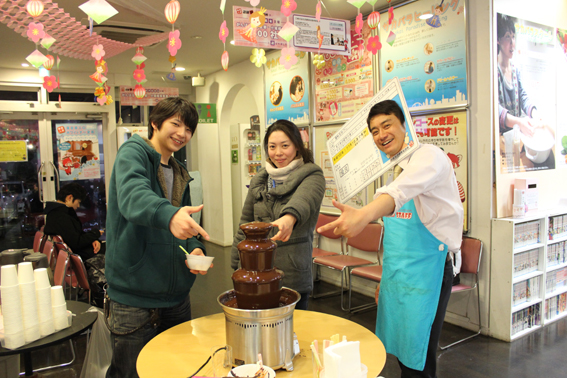 東京車人ホワイトデー企画 チョコレートファウンテン
