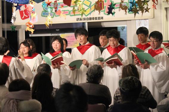 東京神学大学のコーラス部とハンドベル部