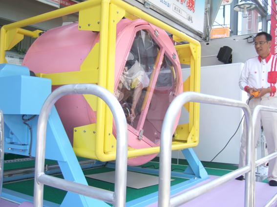 交通安全推進 シートベルト横転体験